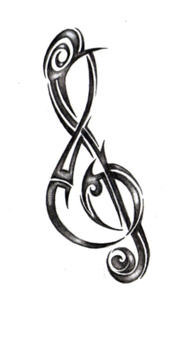 treble clef tattoo design musically inspired tattoos pinterest treble clef tattoo treble. Black Bedroom Furniture Sets. Home Design Ideas