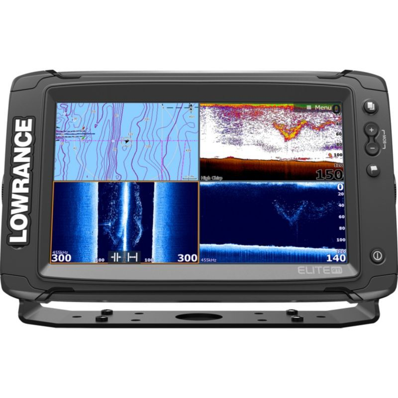 Lowrance Elite9 GPS Fish Finder with DownScan Transducer