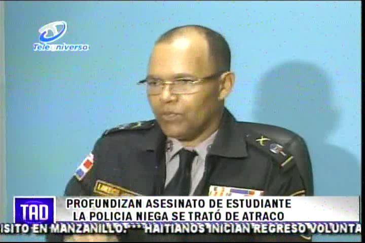 Profundizan Asesinato De Estudiante La Policía Niega Se Trato De Atraco #Video