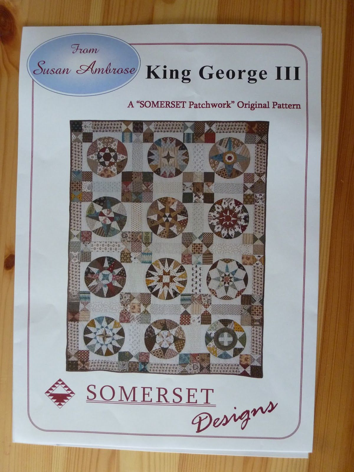 camelot quilt patroon | Lisettes Quiltseizoenen: King George III quilt