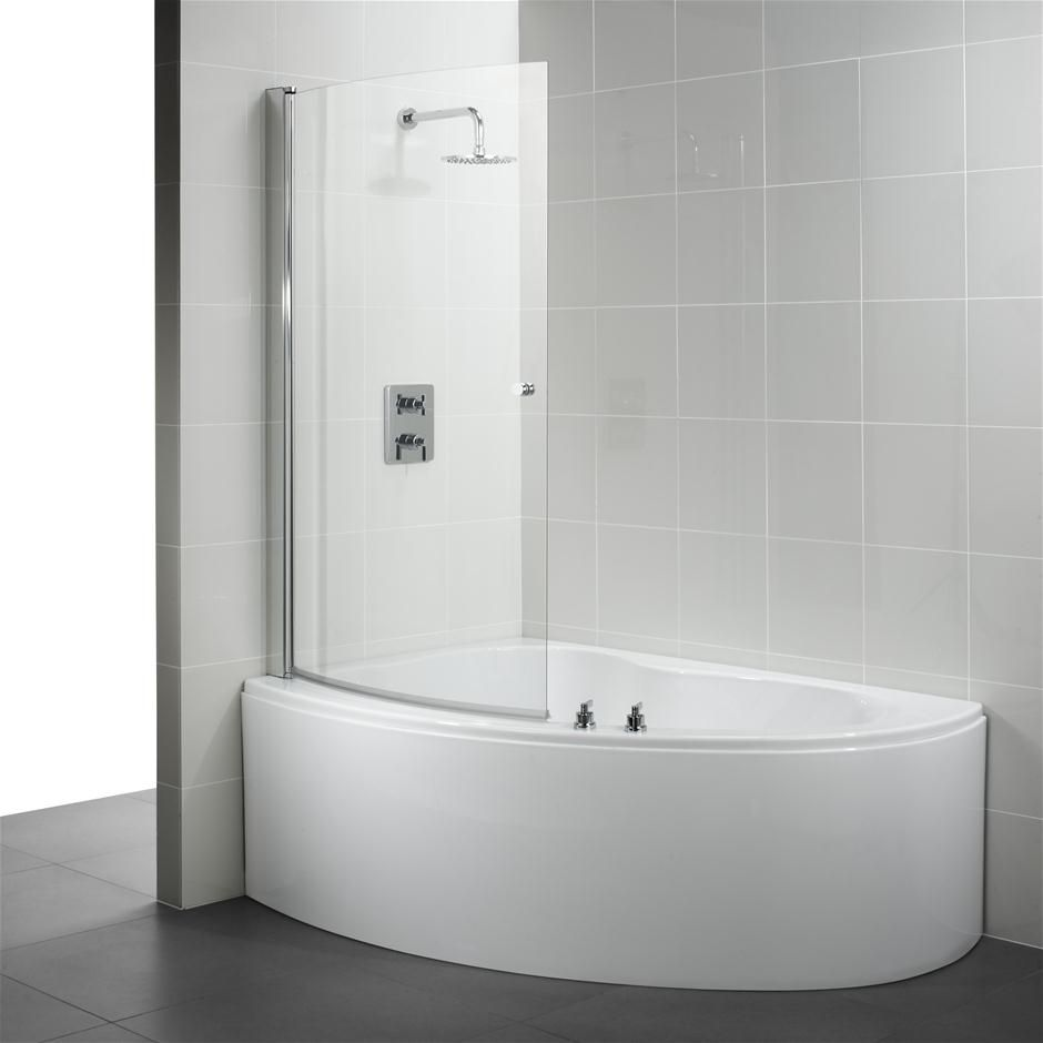 Corner Bathtub and Shower | Ideal Standard Create offset corner bath curved bath  shower screen .