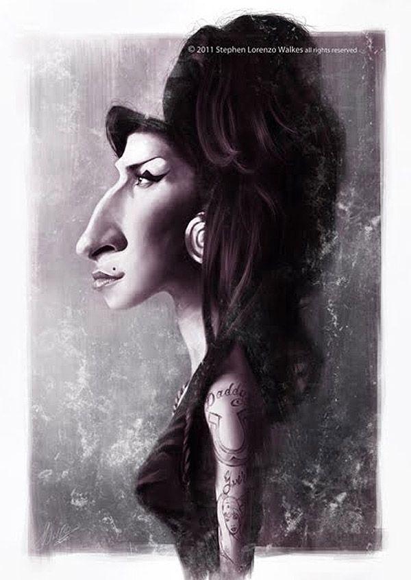 Caricatura de Amy Winehouse.