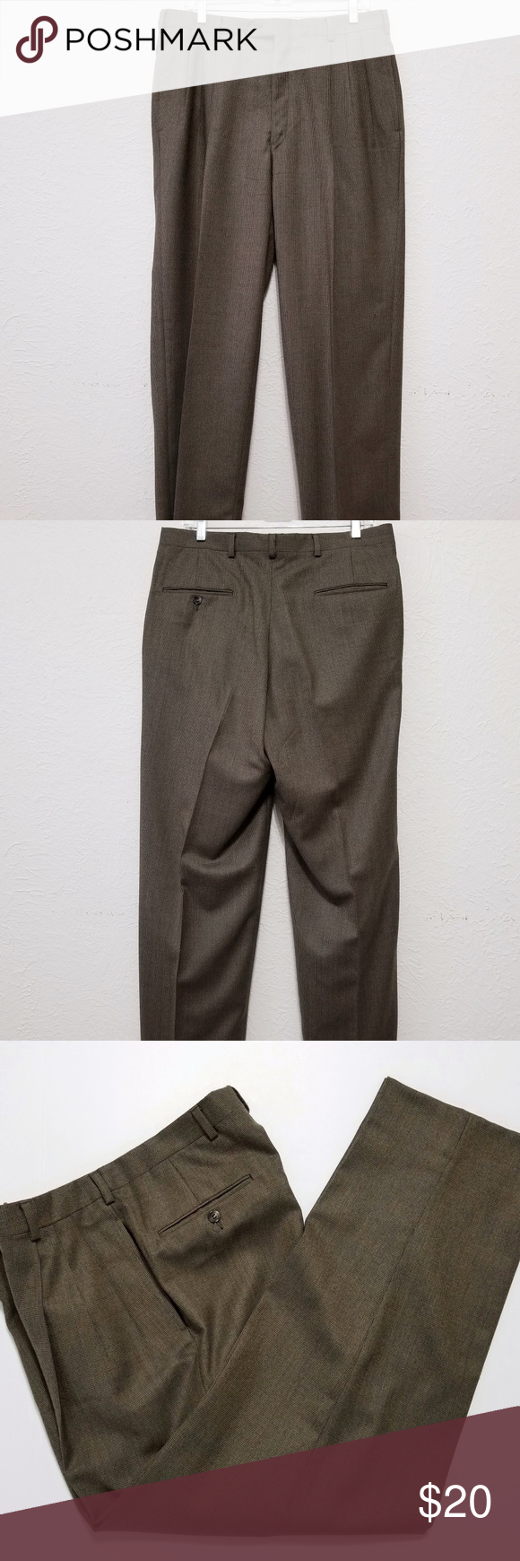 Austin Reed Mens Dress Pants Size 34x31 Brown Wool Austin Reed Men S Dress Pants Size 34x31 Brown Wool Tweed Slacks Mens Dress Pants Dress Pants Pants