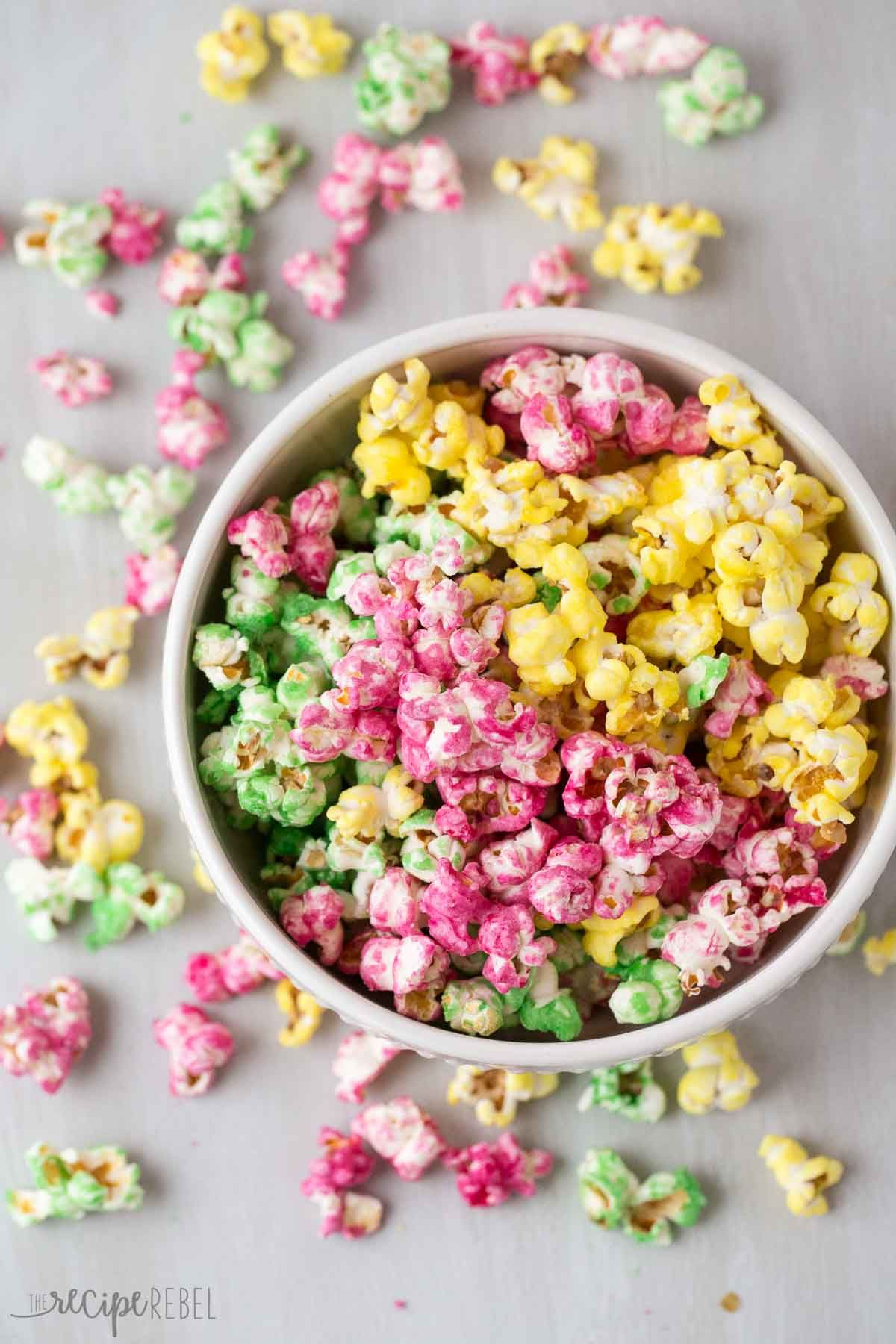 Candy Popcorn is an easy holiday treat that is perfect for gift ...