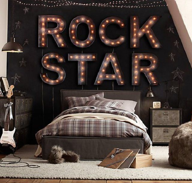 Pin By Angie Denbar On Kids Room Décor Pinterest Bedroom Room Awesome Rockstar Bedroom Model