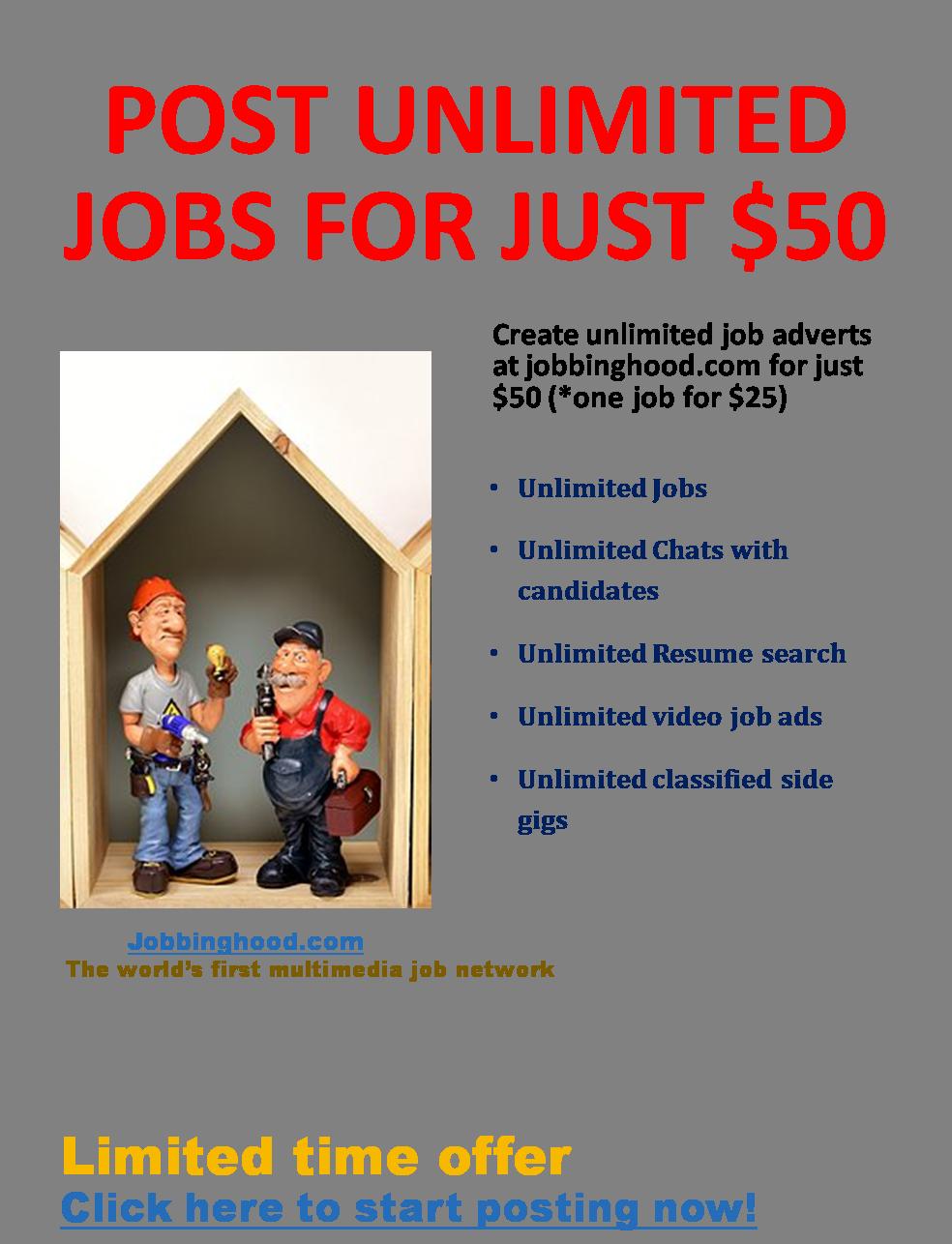 Pin by Jobbinghood on Cool Jobs in 2020 Job ads, Job