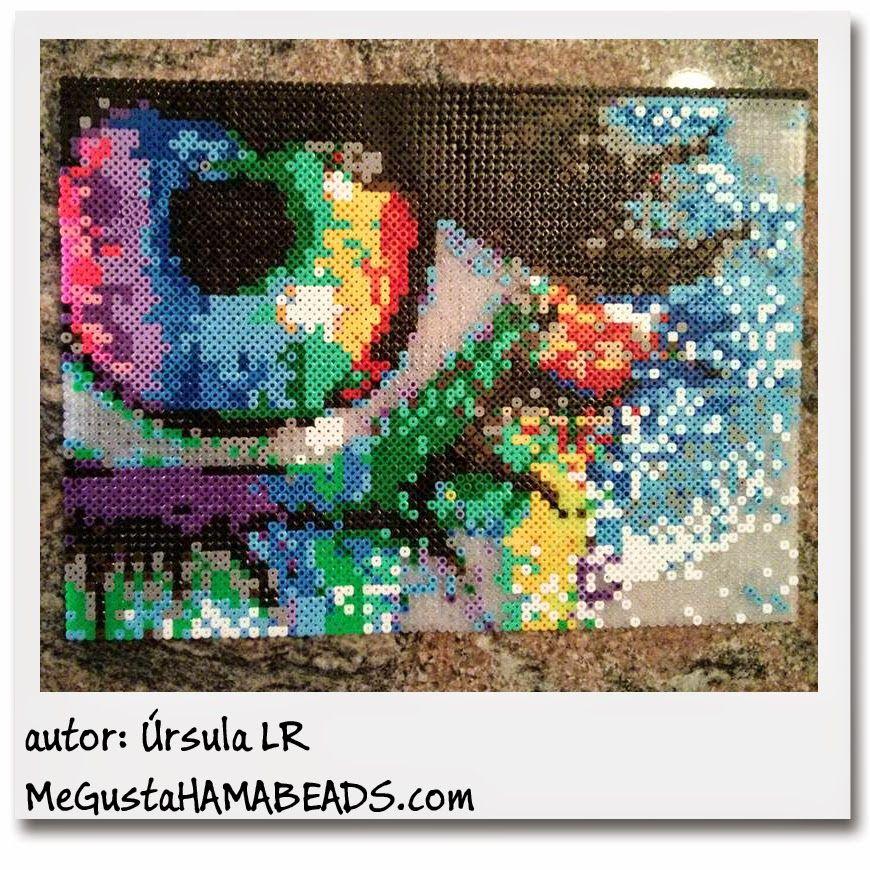 rainbow eye hama perler bead art by ursula lr creativity pinterest perler bead art. Black Bedroom Furniture Sets. Home Design Ideas