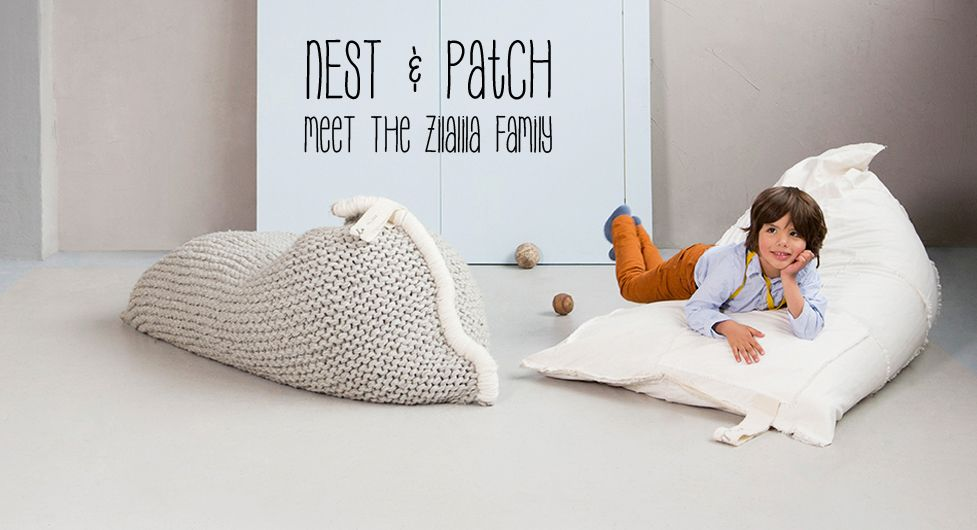 Zilalila Bean Bag : Zilalila fair trade production knitted products hand made