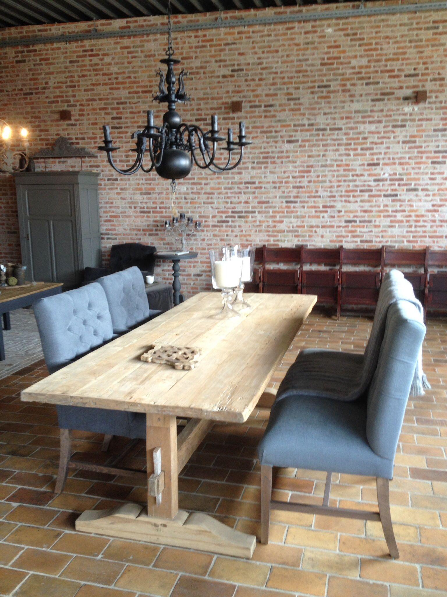mooie oude houten tafel van hoffz frissen rustiek bouwen