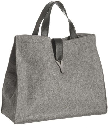 dfd46610ef2 Women s Gray Heather Grey Felt and Leather Trim Uptown Tote ...