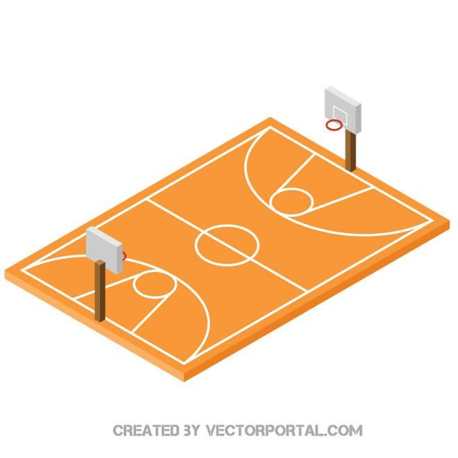 Basketball Court 3d Vector Image Isometric Art Owl Clip Art Isometric Drawing