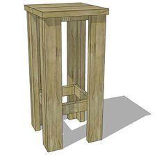 Maak zelf een barkruk van steigerhout   Praxis