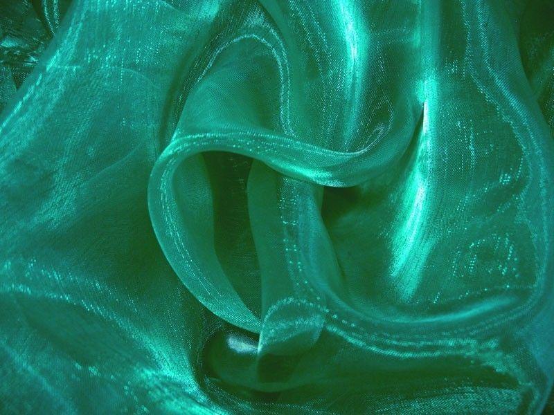 A50 Deep Green Crystal Organza Fabric Curtain by Yard #Unbranded