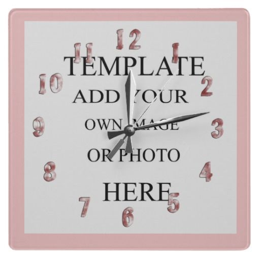 Pink Girls Photo Decor Wall Clock Personalized A favourite with the ...