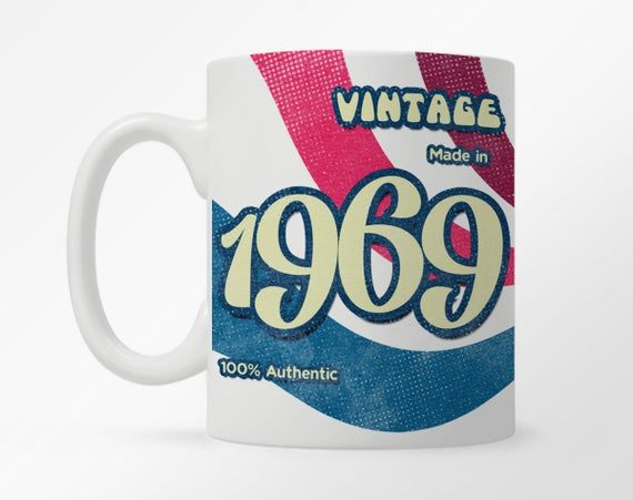 Custom Birth Year 1960's Retro Coffee Mug, 60's Birthday Year Mug, Child of the 60's Vintage Mug, 60