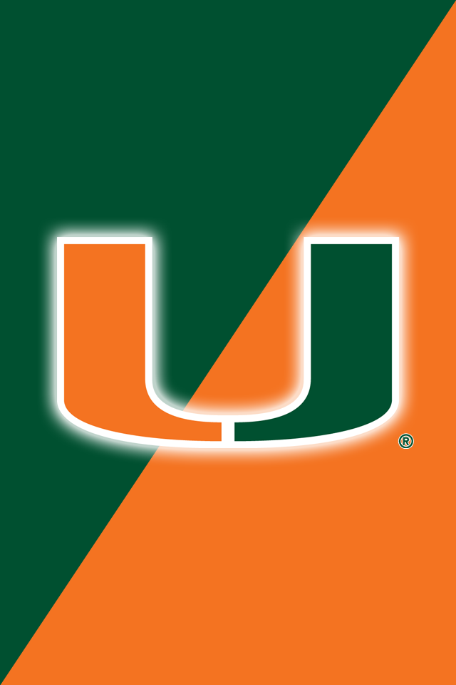 Get A Set Of 12 Officially Ncaa Licensed Miami Hurricanes Iphone Wallpapers Sized Precisely F College Football Teams Miami Hurricanes Miami Hurricanes Football