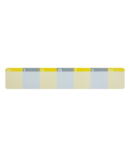 Yellow & Gray Weekly Keyboard Notepad