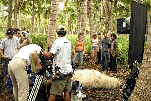 Lost....filming the polar bear scene