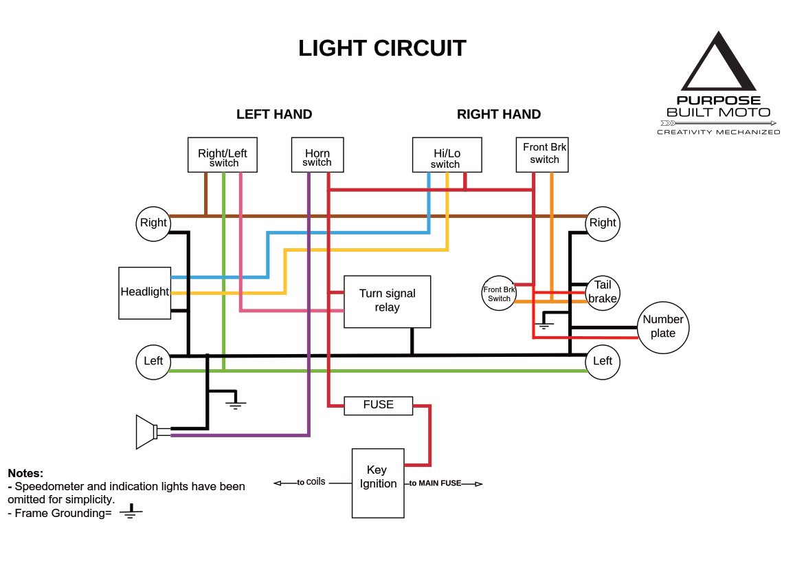 lighting with simple wiring diagram ac cobra project motorcycle Nash Metropolitan Wiring Diagram
