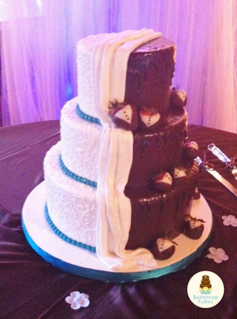 Wedding Cake bride/groom half/half | I do!! | Pinterest | Wedding ...