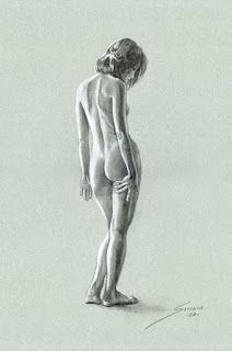 Resultado De Imaxes Para Dibujo Sombras Busto Mujer Desnuda De