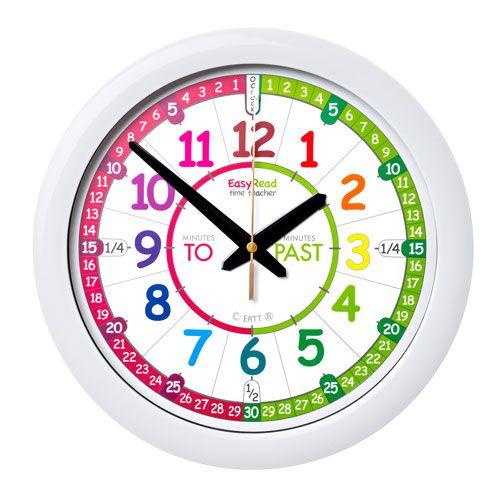 Easyread Time Teacher Past Amp To Wall Clock Rainbow