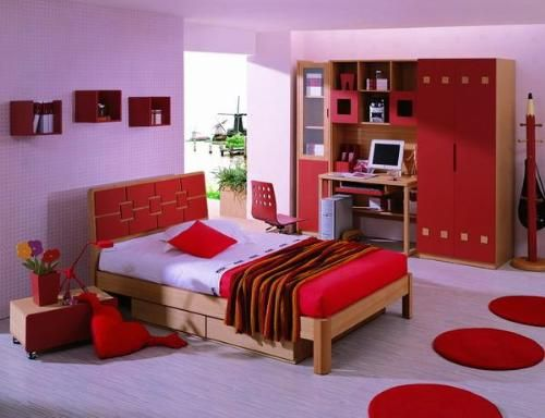 Colors For Room romantic couple bedroom design with red love cushions and white