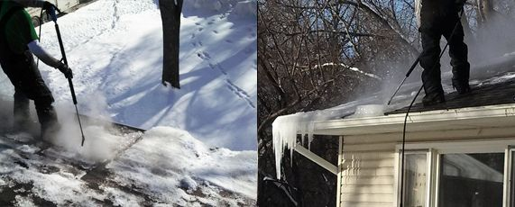 Real Photos Of Our Team Helping Remove An Ice Dam In Minneapolis For More Info Visit Http Www Totalhomeext C Ice Dams Ice Dam Removal Water Damage Repair