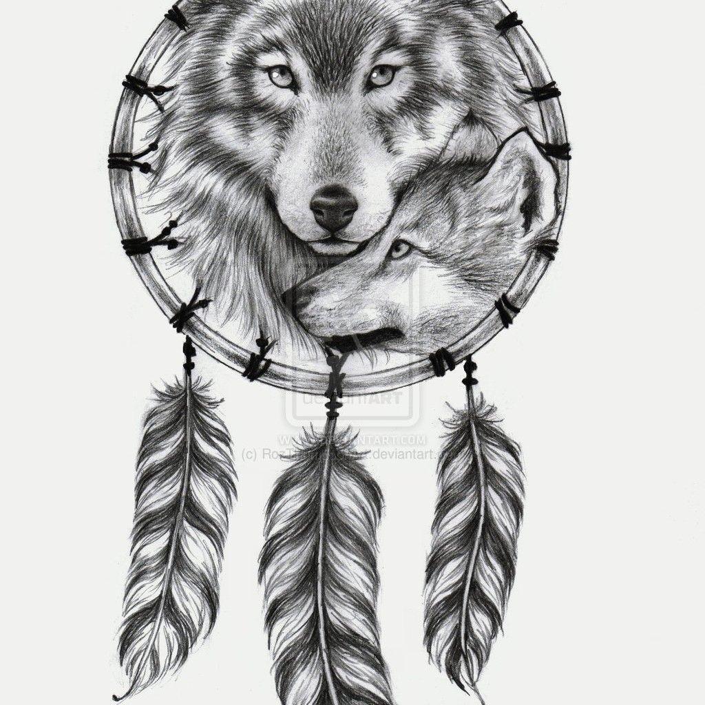 Wolf tattoo dreamcatcher - photo#30