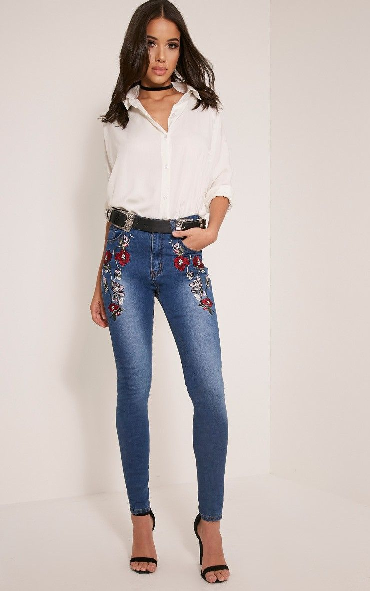 High waisted skinny jeans trend