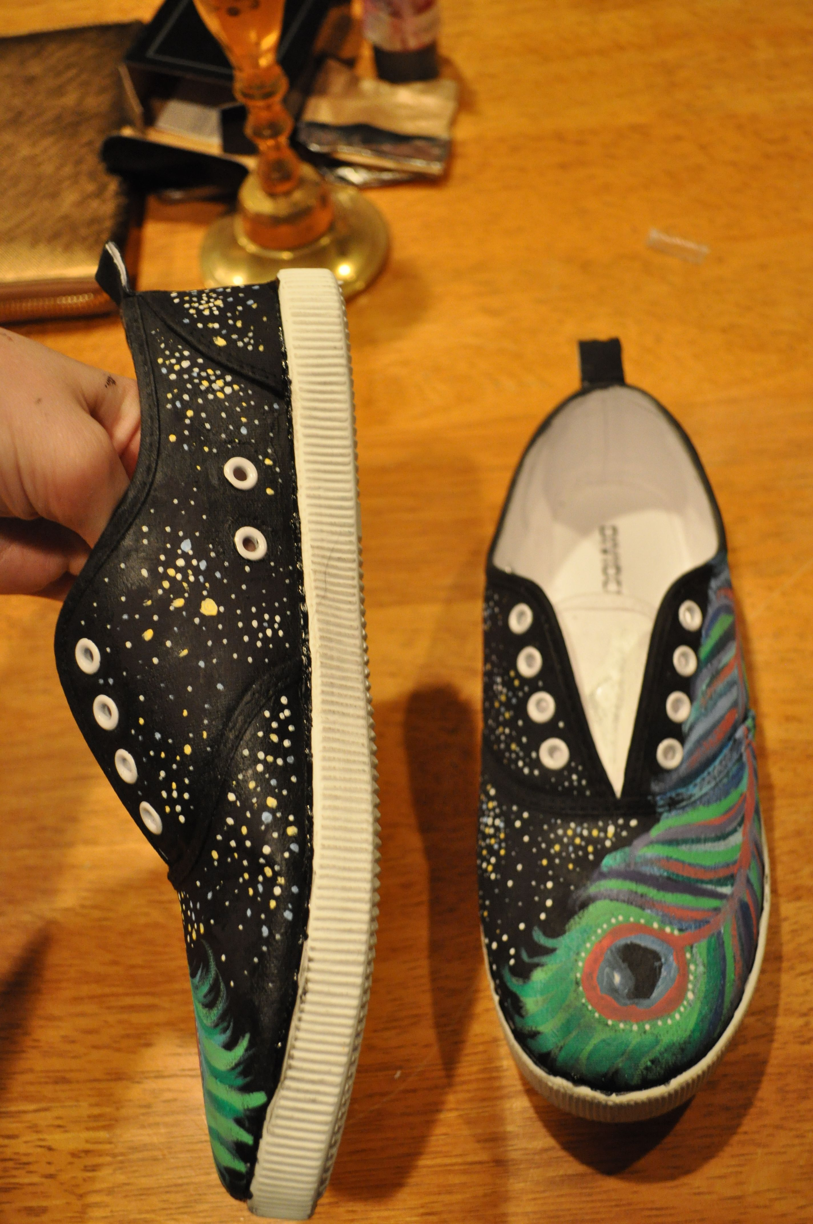 I painted these shoes myself for my friend nicki!