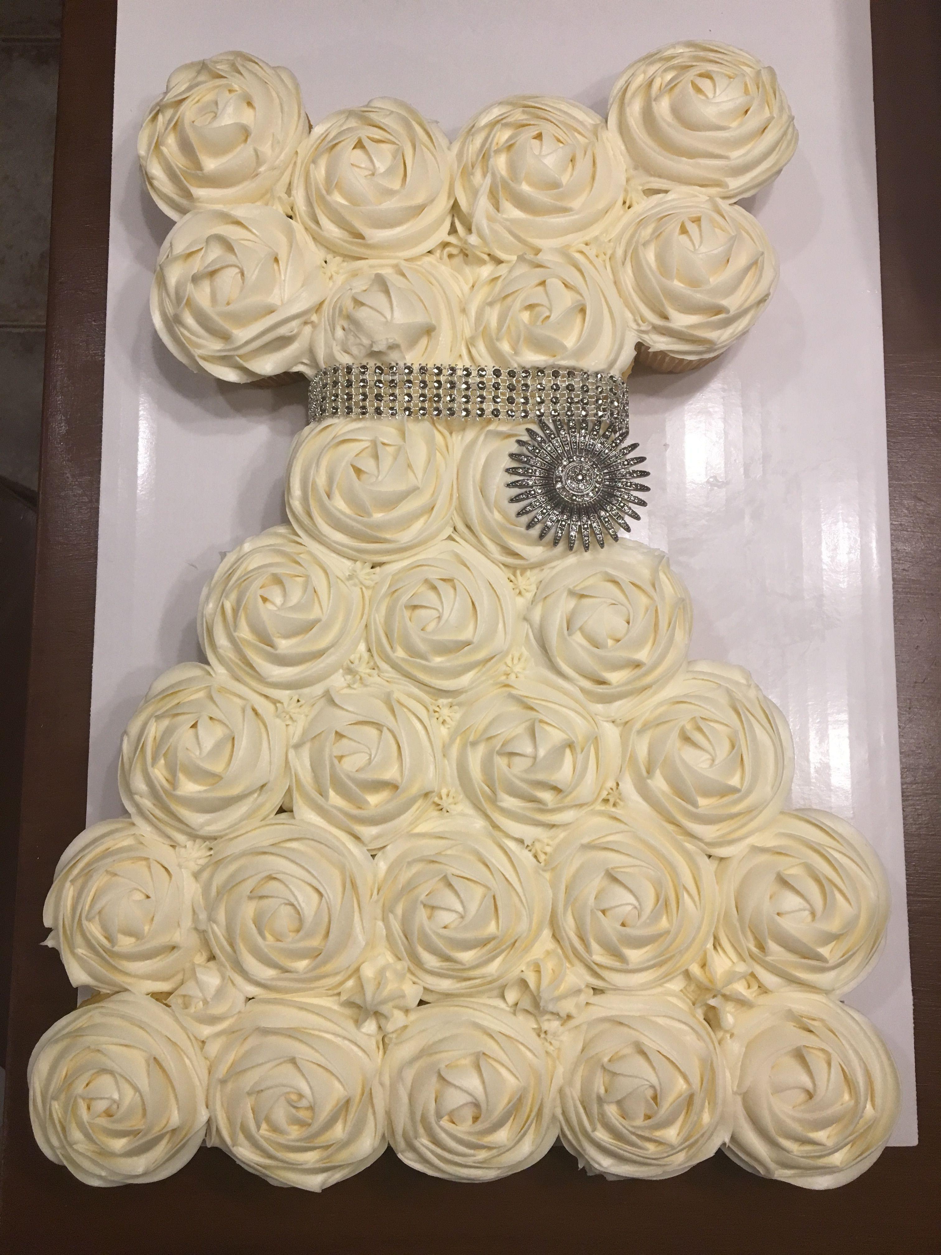 Bridal Dress Cupcake Cake   Cook\'s Creations   Pinterest   Dress ...