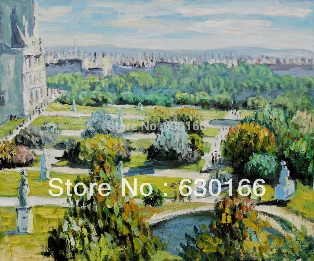Oil painting on canvas unframed les tuileries musee