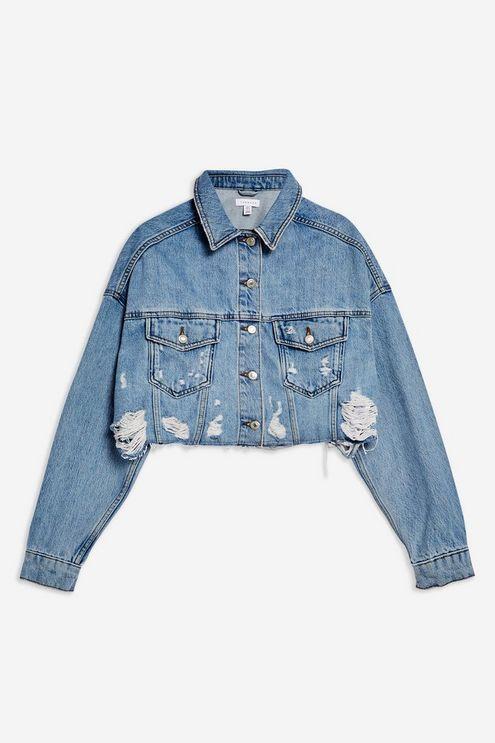 déchiruresMy Veste jean coupée en denim lovely en avec ED92WIH