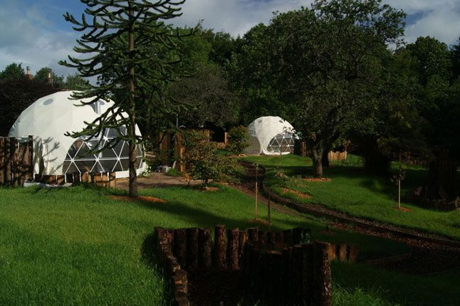 Glamping at The Dome Gardens in Gloucestershire