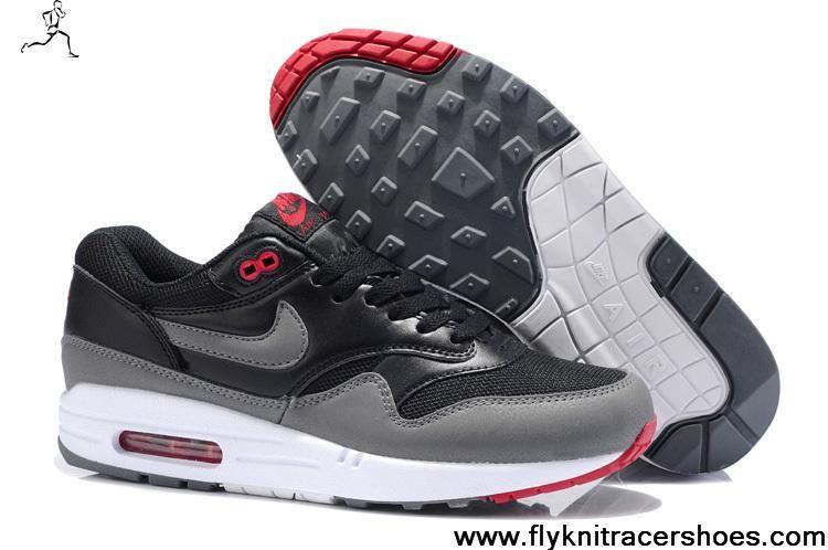 Fashion Nike Air Max 1  Herren 555766 001 Cool schwarz Cool 001 Grau Anthracite ... d0cd07