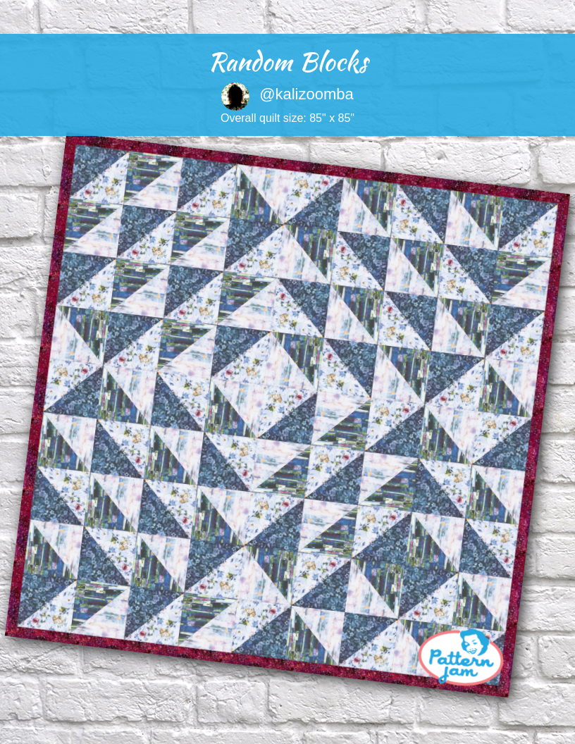 Random Blocks Quilt Patterns Madewithpatternjam Quilts