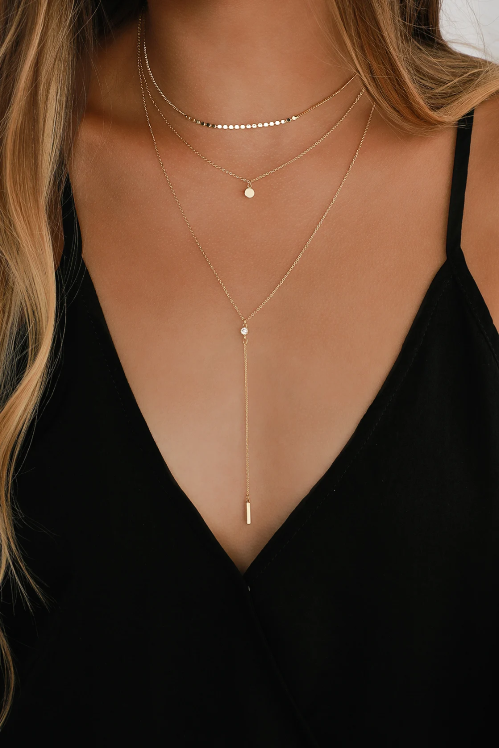 Coretta Layered Gold Necklace In 2020 Gold Necklace Layered Gold Necklace Fashion Necklace