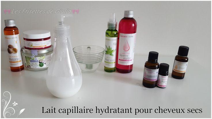 Lait capillaire hydratant pour cheveux secs - Nadia Seu Dah #hydratant