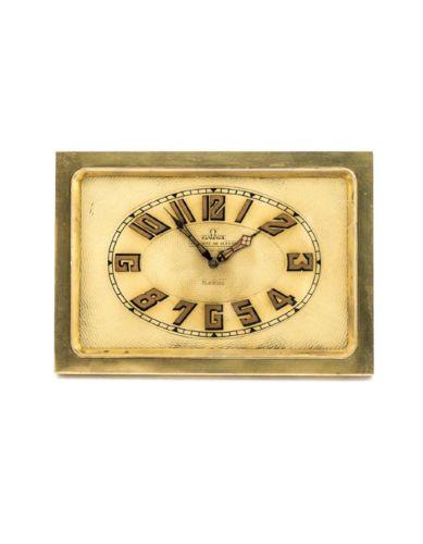 Rare-Omega-desk-clock-with-8-day-movement-art-deco-1920s