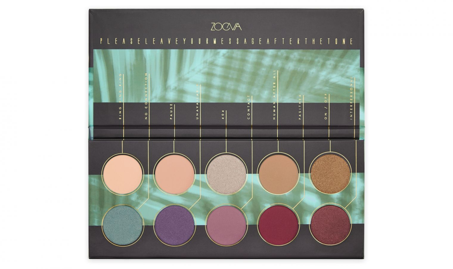 ZOEVA Eyeshadow Palette with 10 highly pigmented
