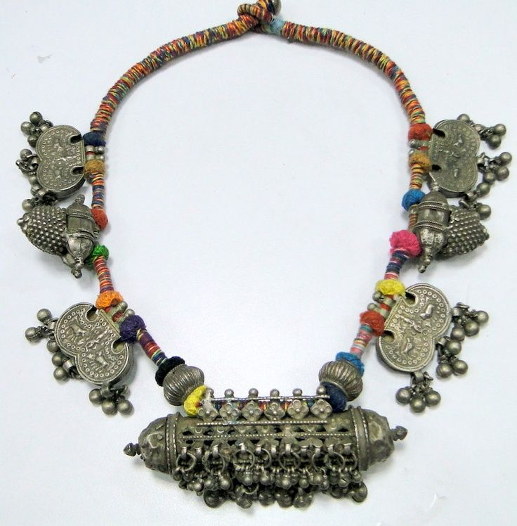 Vintage Silver Indian Amulet Necklace | India & jewels & Colours ...