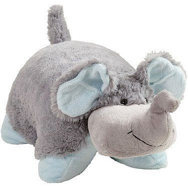 My Pillow Pets Nutty Elephant Large Grey With Blue By My