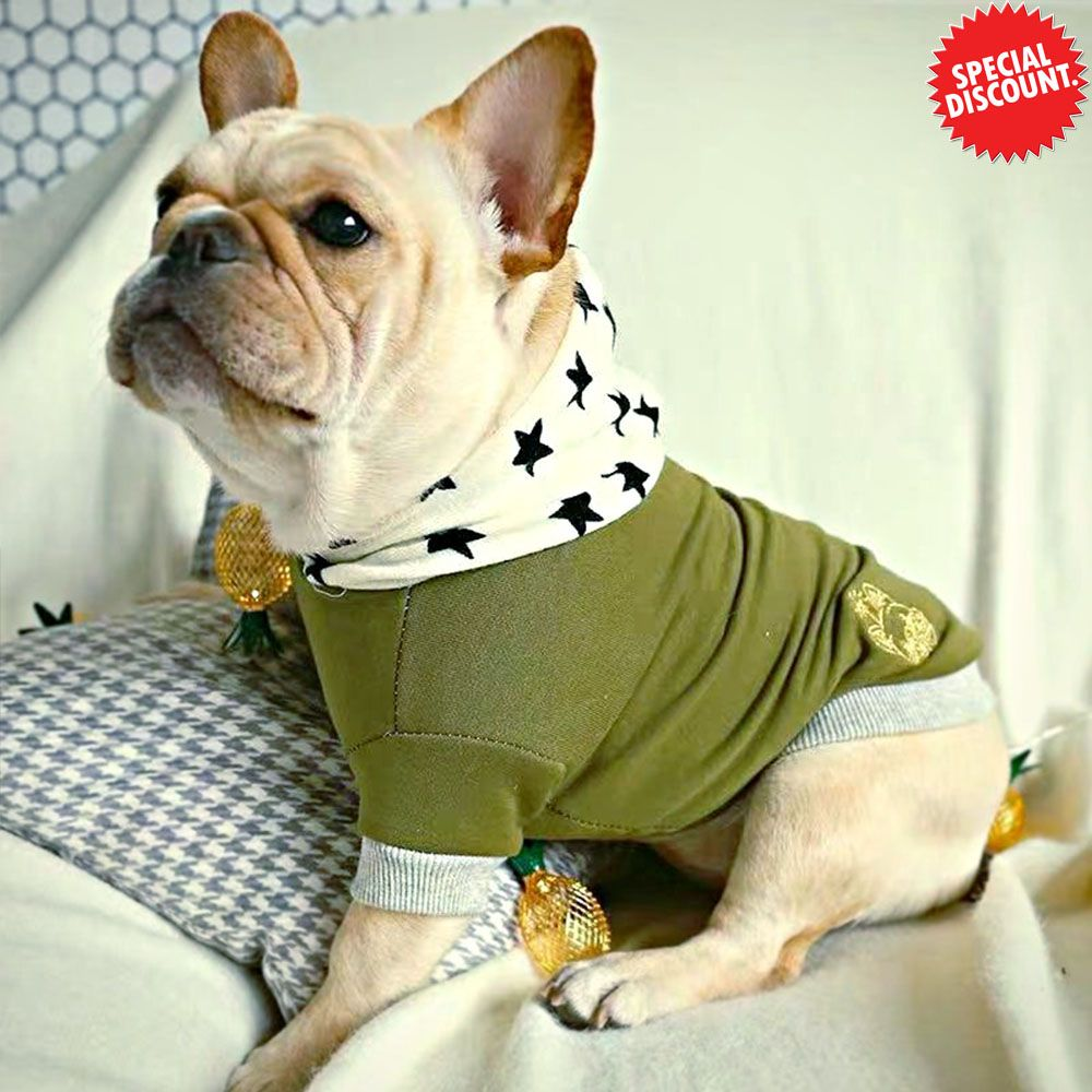 French Bulldog Clothes Winter Pet Dog Hoodie Clothing for