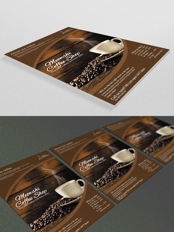 Coffee Shop Flyer | Flyer Template, Coffee Shop And Find Fonts