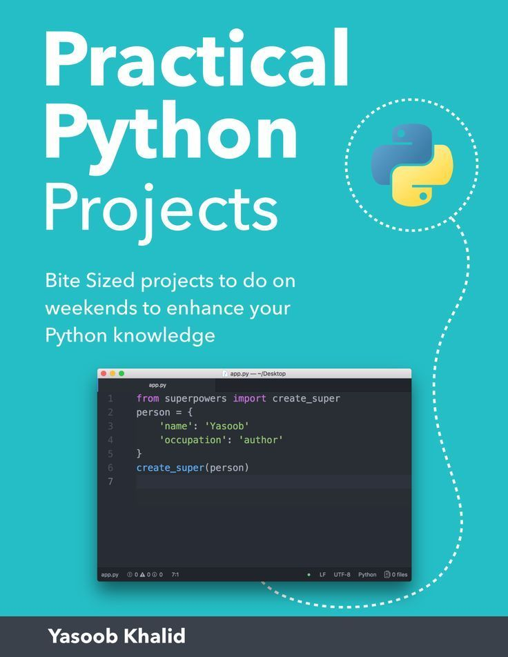 Practical python projects book python tips python
