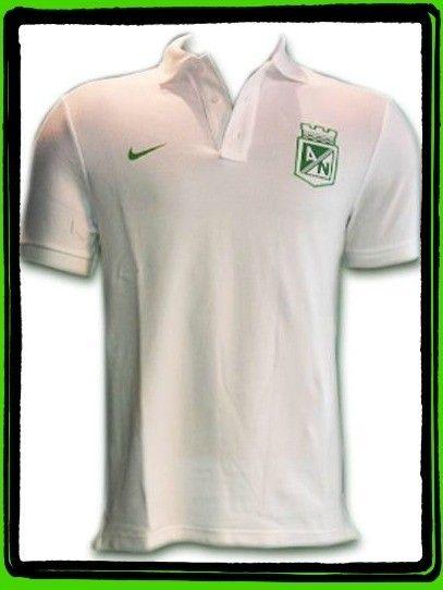 Camiseta Nike Polo Blanca Atletico Nacional 2014  51d3e833ee7d9