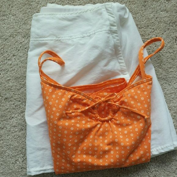 LANDS END tankini & swim skirt set Swimsuit set,  both are size 10, worn maybe 2x, tankini top has built-in bra, only lightly padded,  cute keyhole in middle, adjustable straps, skirt has built-in swim bottoms,  cute pocket in back, zipper on left hip side...I can make 2 separate listings if want to buy separately.   These are both in excellent condition,  no signs of wear, stains, snags, stretching, etc Lands' End Swim