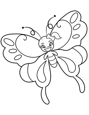 Ausmalbild Schmetterling Madchen Ausmalbilder Schmetterling