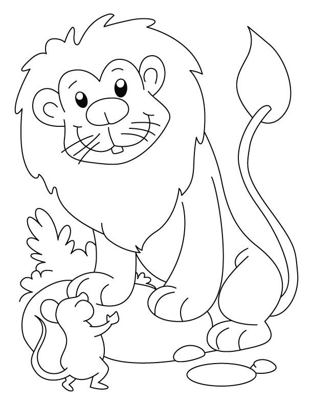 Mouse Coloring Pages Preschool. A lion and a mouse coloring page Lion Mouse  Daniel for preschool Preschool Pinterest